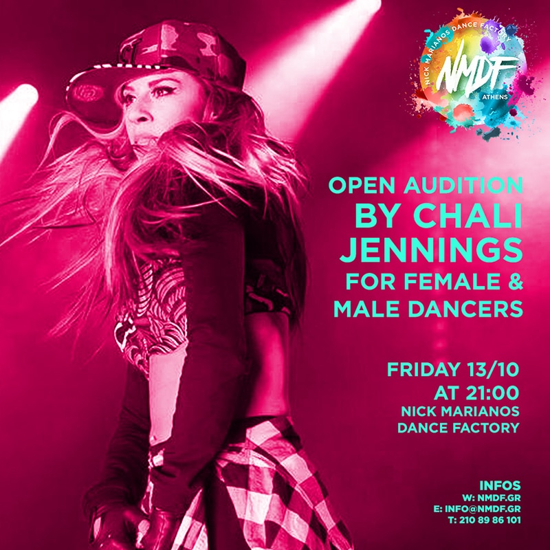 OPEN AUDITION BY CHALI JENNINGS